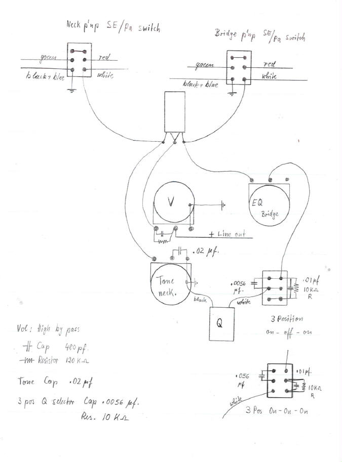 Bill Lawrence Humbucker Wiring Diagram 2